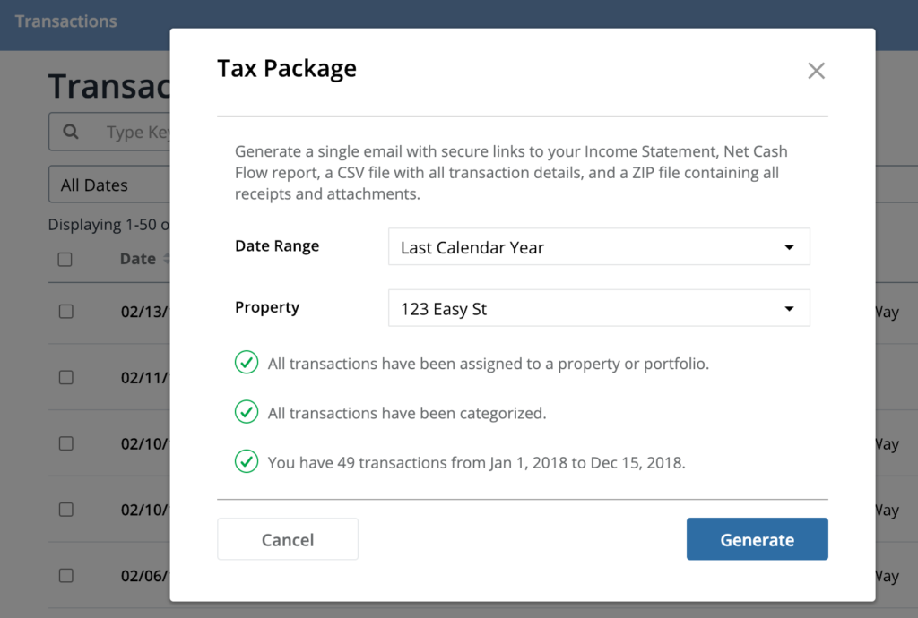 Stessa Tax Package Feature